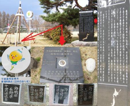 長野県南牧村1級基準点 日本のへそ 写真画像