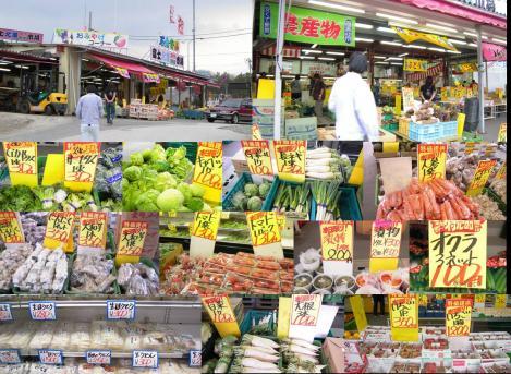 富士吉田市の安くて新鮮 農産物 直売所で野菜を買いお土産に生ほうとううどんを買った時の写真画像
