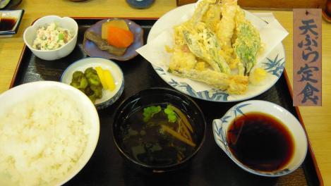 嫁が食べた天ぷら定食