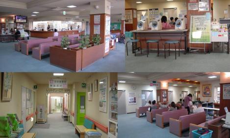 脳外科病院 西島病院の待合室とレントゲン・CT・MRI室の写真