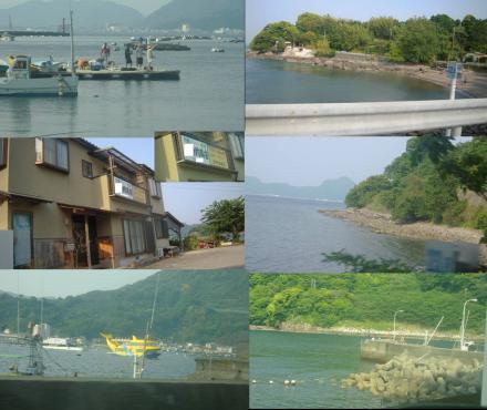戸田湾の釣り場から帰る時の伊豆の海の釣り場の写真