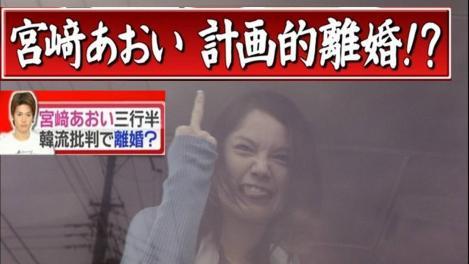 宮崎あおい三行半韓流批判で計画的離婚のおもしろ写真画像