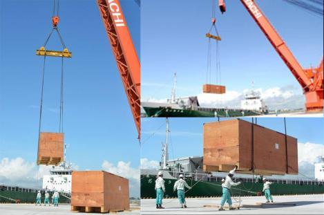 日立専用岸壁が再開、発電ロータ出荷 茨城港