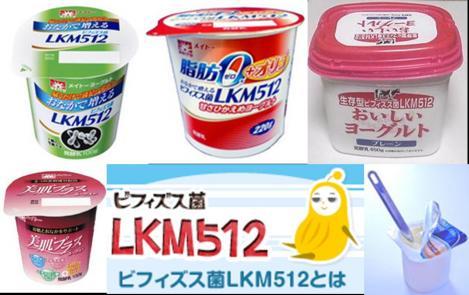ヨーグルトのビフィズス菌のLKM512は老化防止や健康長寿の生活になると発表された写真