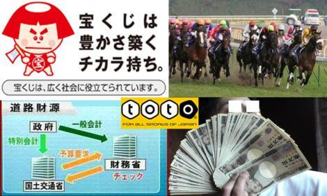 日本の省の財源は国民を利用したバクチなのであるの写真画像