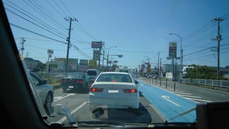 三島市から富士市へ向かった時の国道1号線バイパスの写真画像