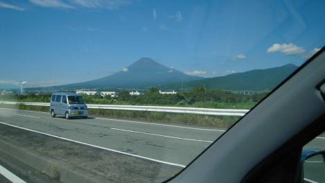 富士市へ向かう時の富士山のデジカメ写真