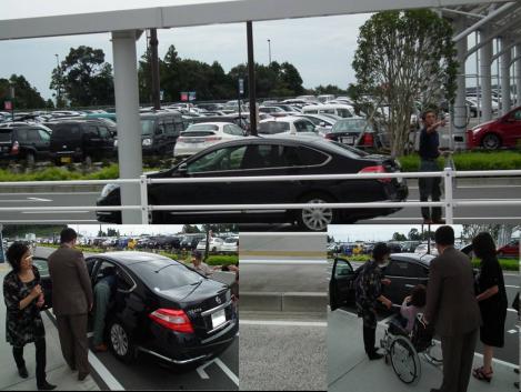 浜松から迎えに来た親戚のイイ車に母が乗り浜松へ向かう時のデジカメ写真