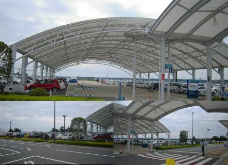 富士山靜岡空港の二週間は無料の大型駐車場のデジカメ写真