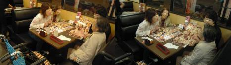 夢庵で混んだ日曜の夜に韓国から来た叔母さん達と食事会のデジカメ写真