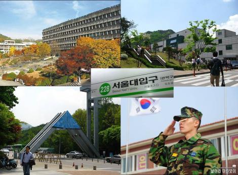 甥が韓国のソウル大学在学中に徴兵で軍隊に加入したデジカメ写真