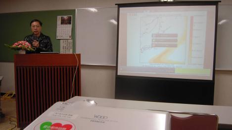 原発・放射能についての講義のデジカメ写真