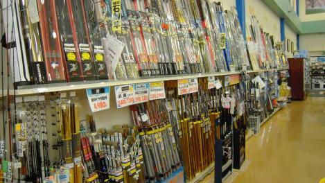 つり具イシグロの店の釣り竿デジカメ写真