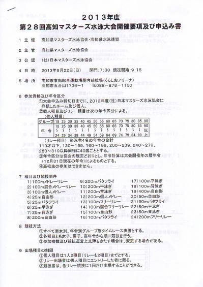 2013高知マスターズ