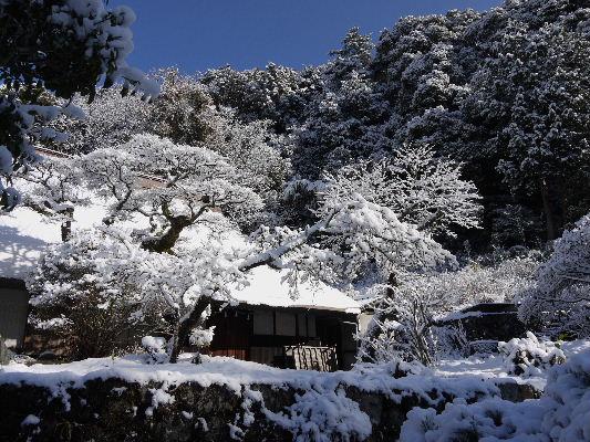 河之内・惣河内神社・一畳庵雪景色 130118 06