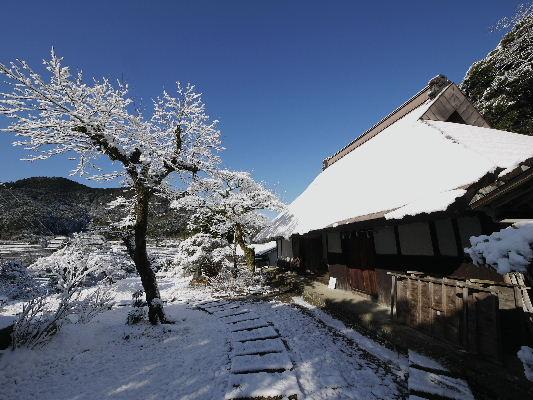 河之内・惣河内神社・一畳庵雪景色 130118 03