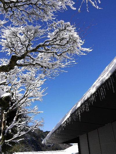 河之内・惣河内神社・一畳庵雪景色 130118 04