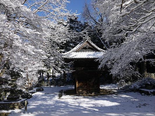 河之内・金毘羅寺雪景色 130118 01