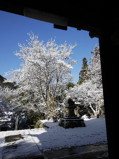 河之内・金毘羅寺雪景色 130118 06