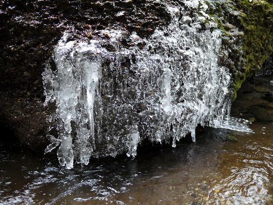 滑川渓谷氷柱・前の滝 130129 03