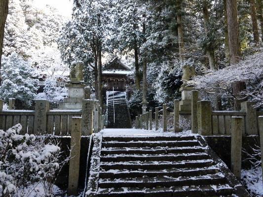 河之内・惣河内神社雪景色 14