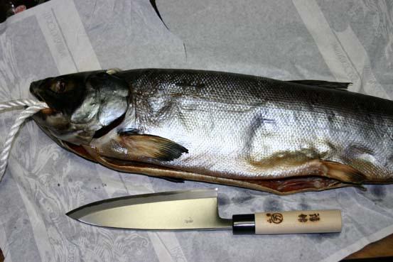 真・新巻鮭と私の特別の新出刃包丁
