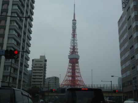 東京タワー通過しま~す