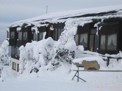 山頂にある宿