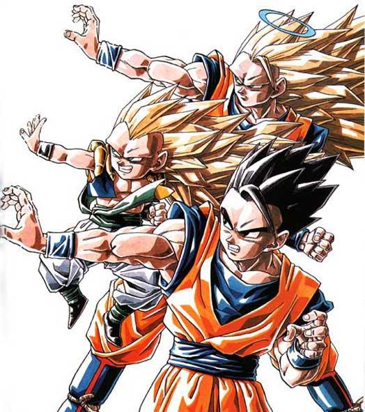 Goku And Gohan Fusion Ssj4