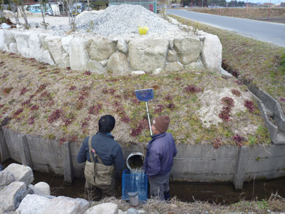 写真.4 排水口にカゴ網設置v2