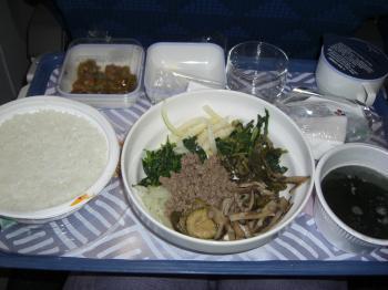 機内食ビビンバ