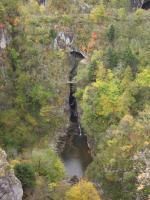 ビューポイント途中の滝
