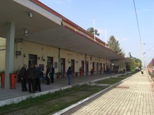ギリシャ側イミグレ駅