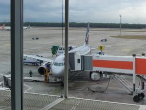 モスクワ行きアエロフロート機