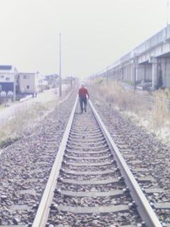 線路上の父