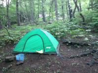 自慢のテント 雨漏れあり