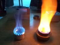 アルコールバーナー燃焼比較