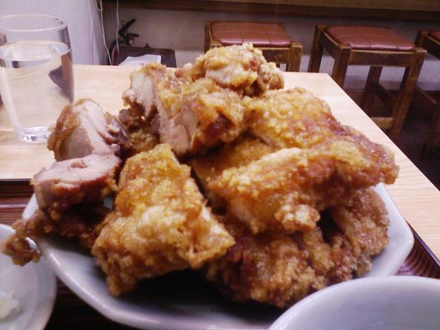南ばん(鳥のから揚げ定食)