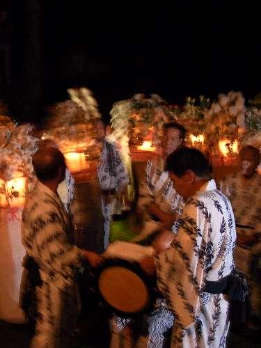 久多花笠踊 上の宮神社
