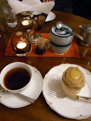 マサムラのモンブラン 松本ホテル花月の喫茶室で