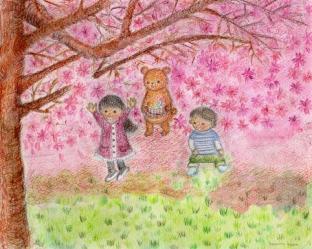 みんなで桜