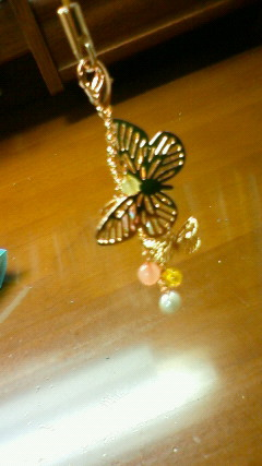 蝶々キーホルダー
