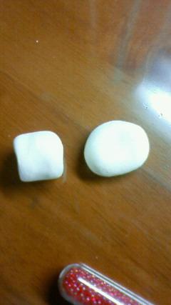 マシュマロと白玉