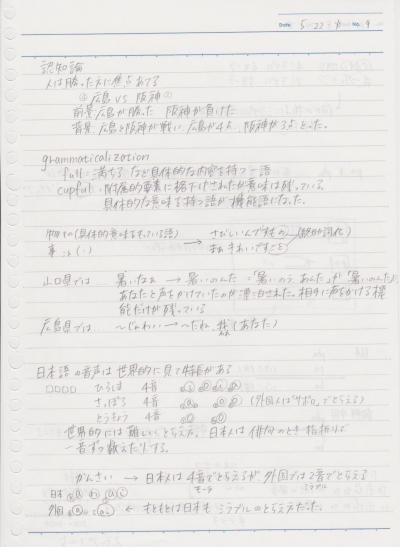 日本語学概論1