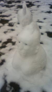 彫像雪だるま