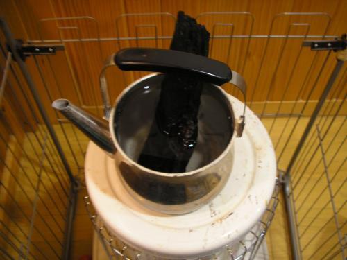 ストーブ煮沸