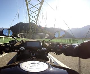 天竜川橋の上