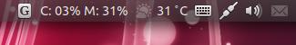 Ubuntu Unity パネル インジケーター 並び替え