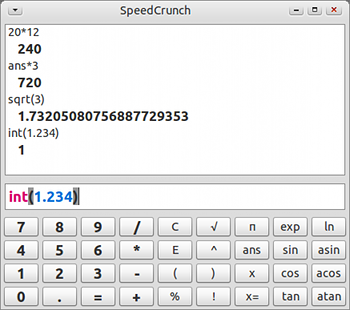 SpeedCrunch Ubuntu 電卓