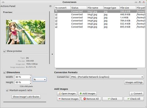 Converseen Ubuntu PPA 画像変換